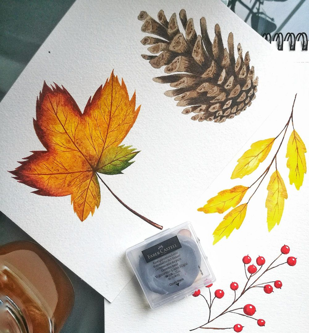 Autumn in Watercolor - image 1 - student project
