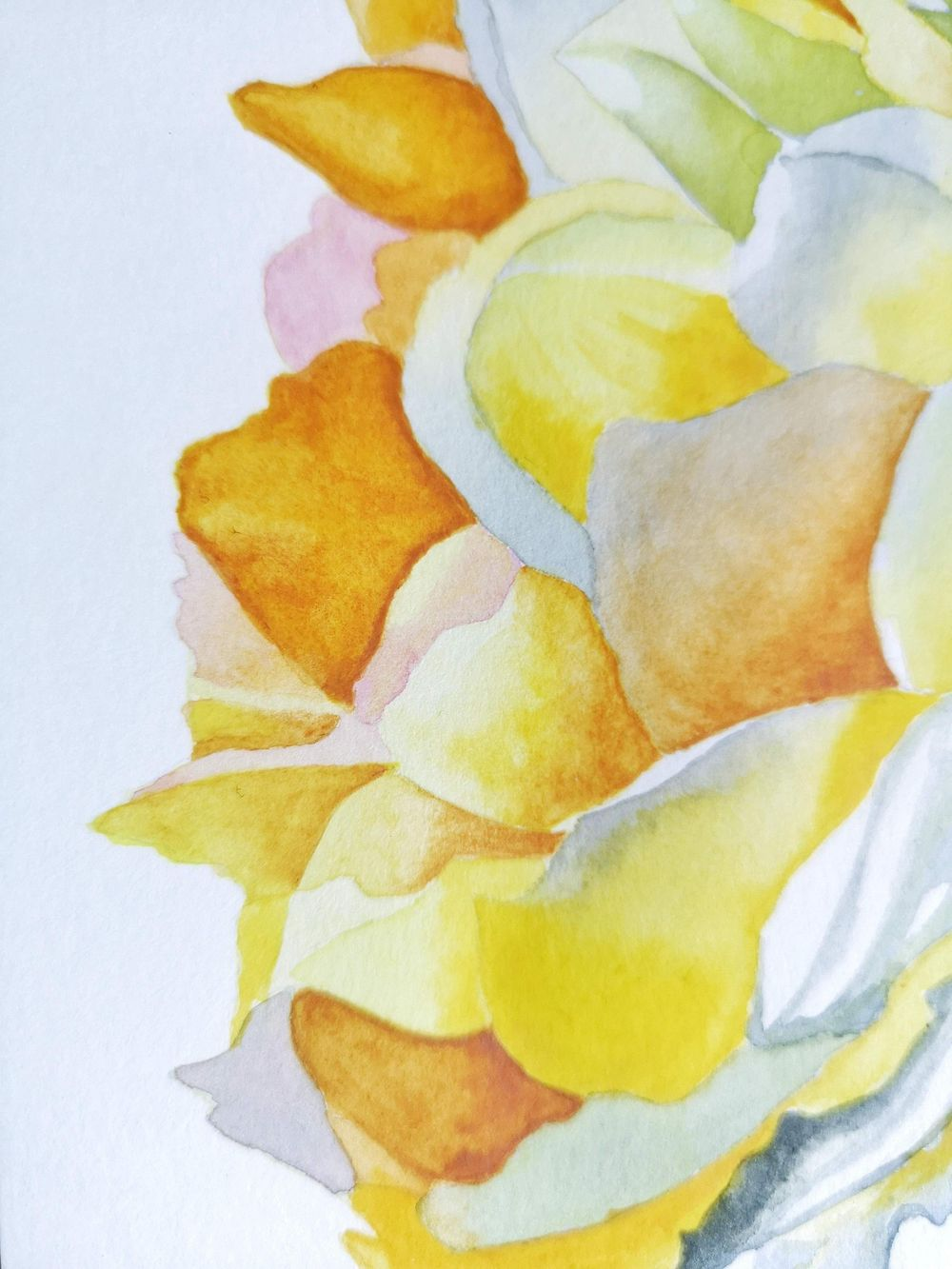 Watercolor Yellow Rose - image 2 - student project