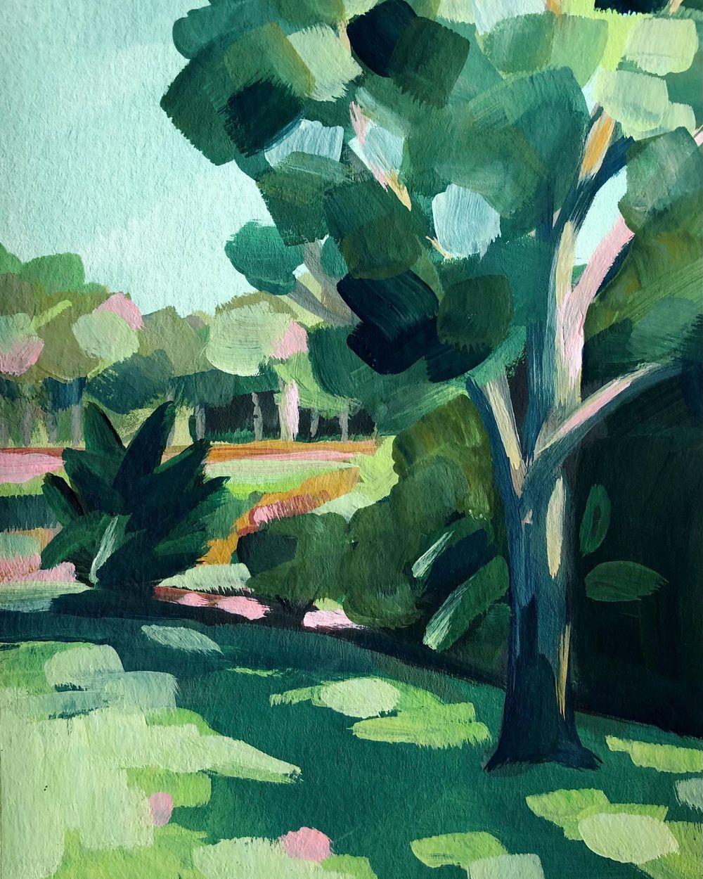 Gouache Landscape Sketches - image 2 - student project