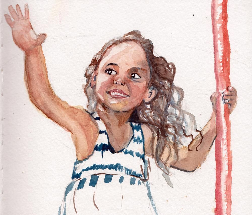 Girl in watercolor - image 2 - student project