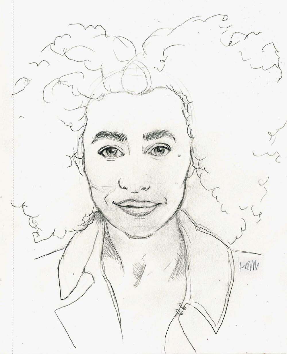 Minimalist Portrait in Pencil  - image 2 - student project