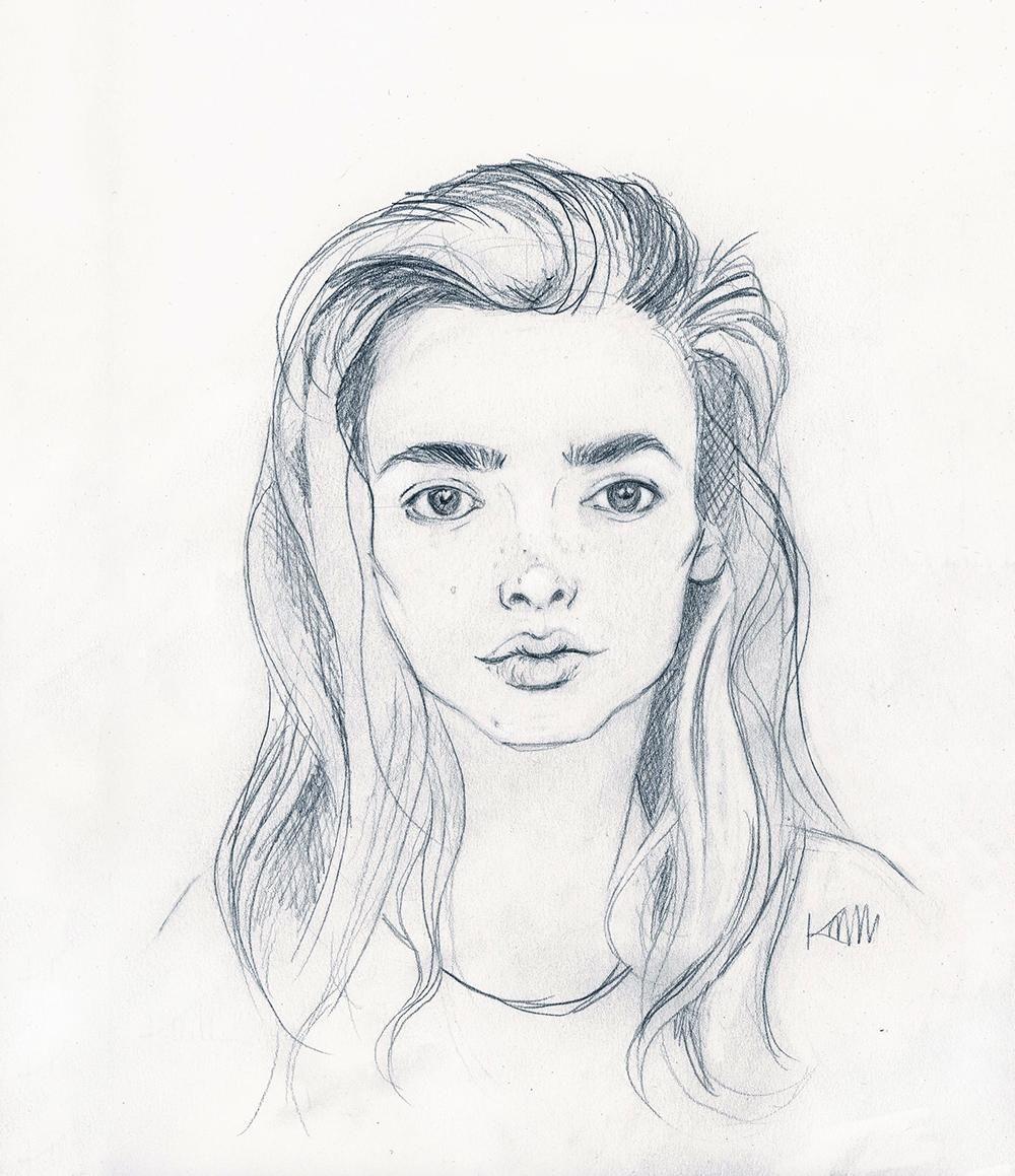 Minimalist Portrait in Pencil  - image 1 - student project