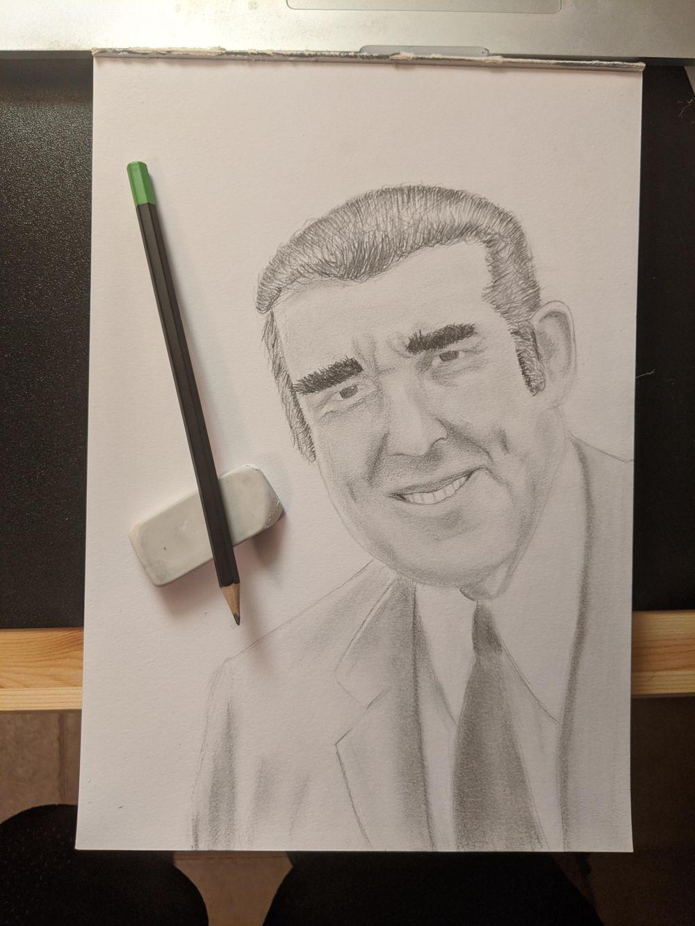 Pencil Portrait Sketch - image 2 - student project