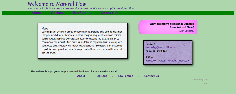 Natural Flow - Sustainable Menstrual Options - image 1 - student project