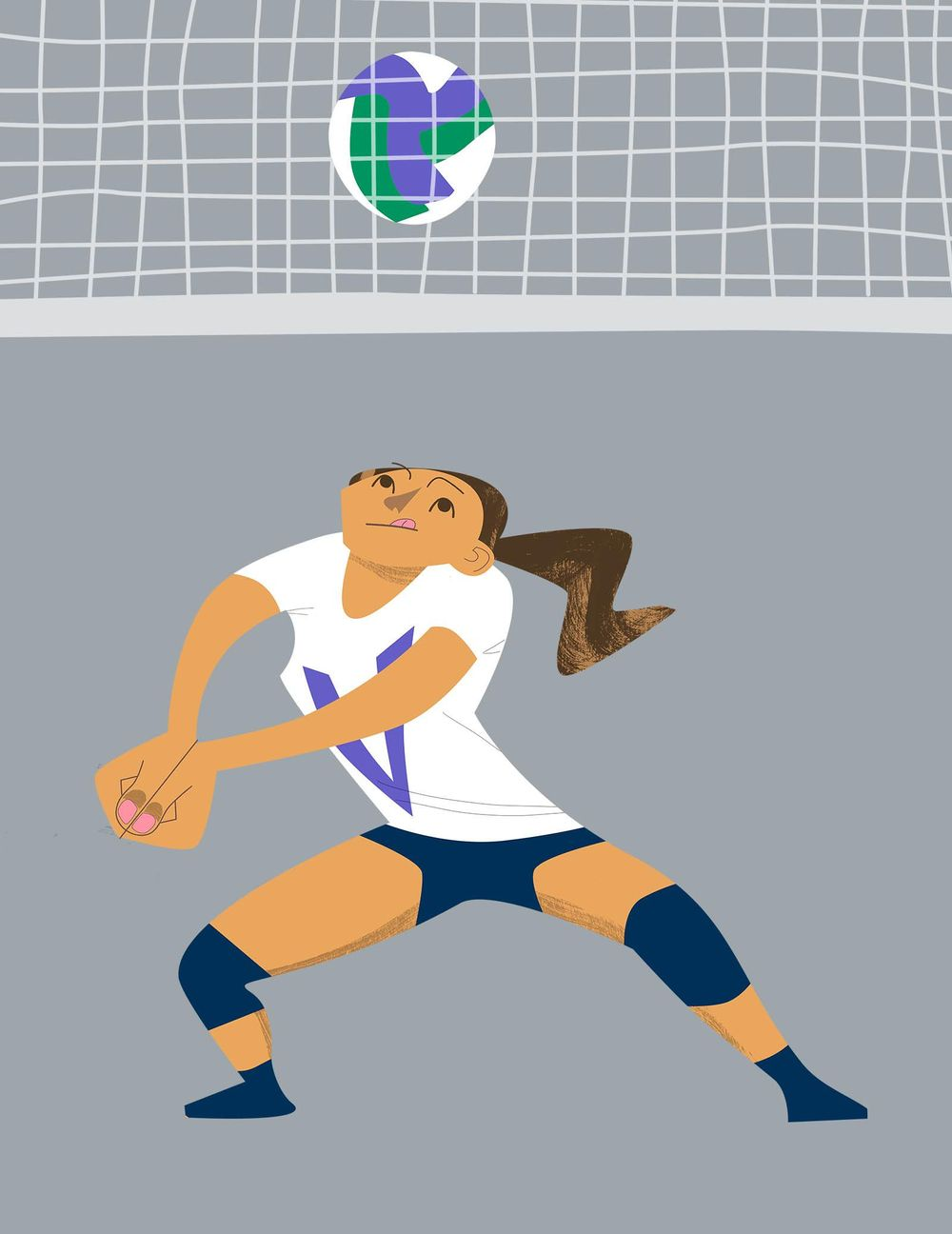 Volleyball Player - image 2 - student project