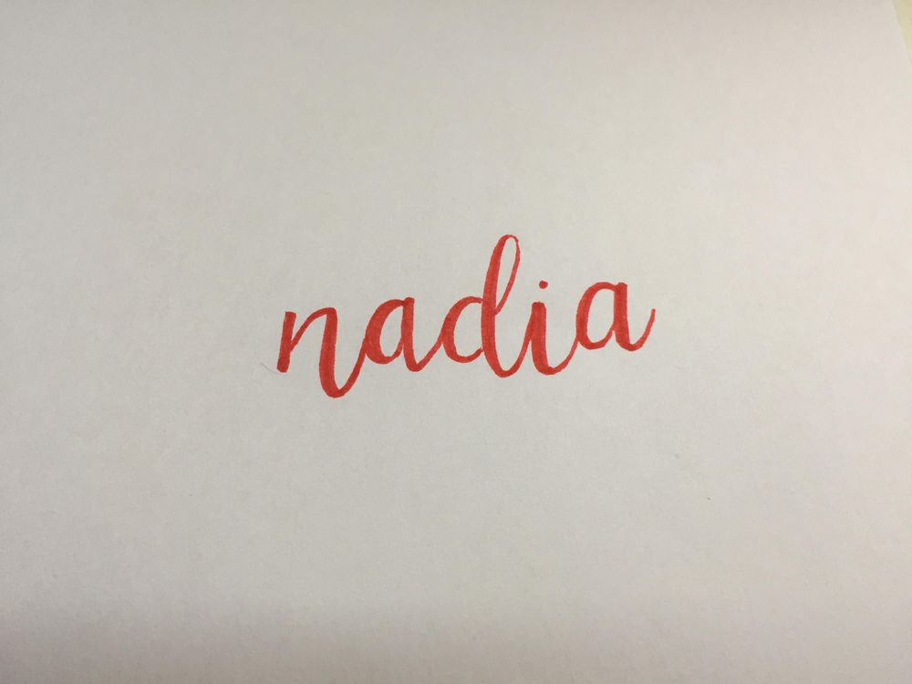 Nadia lettered - image 1 - student project