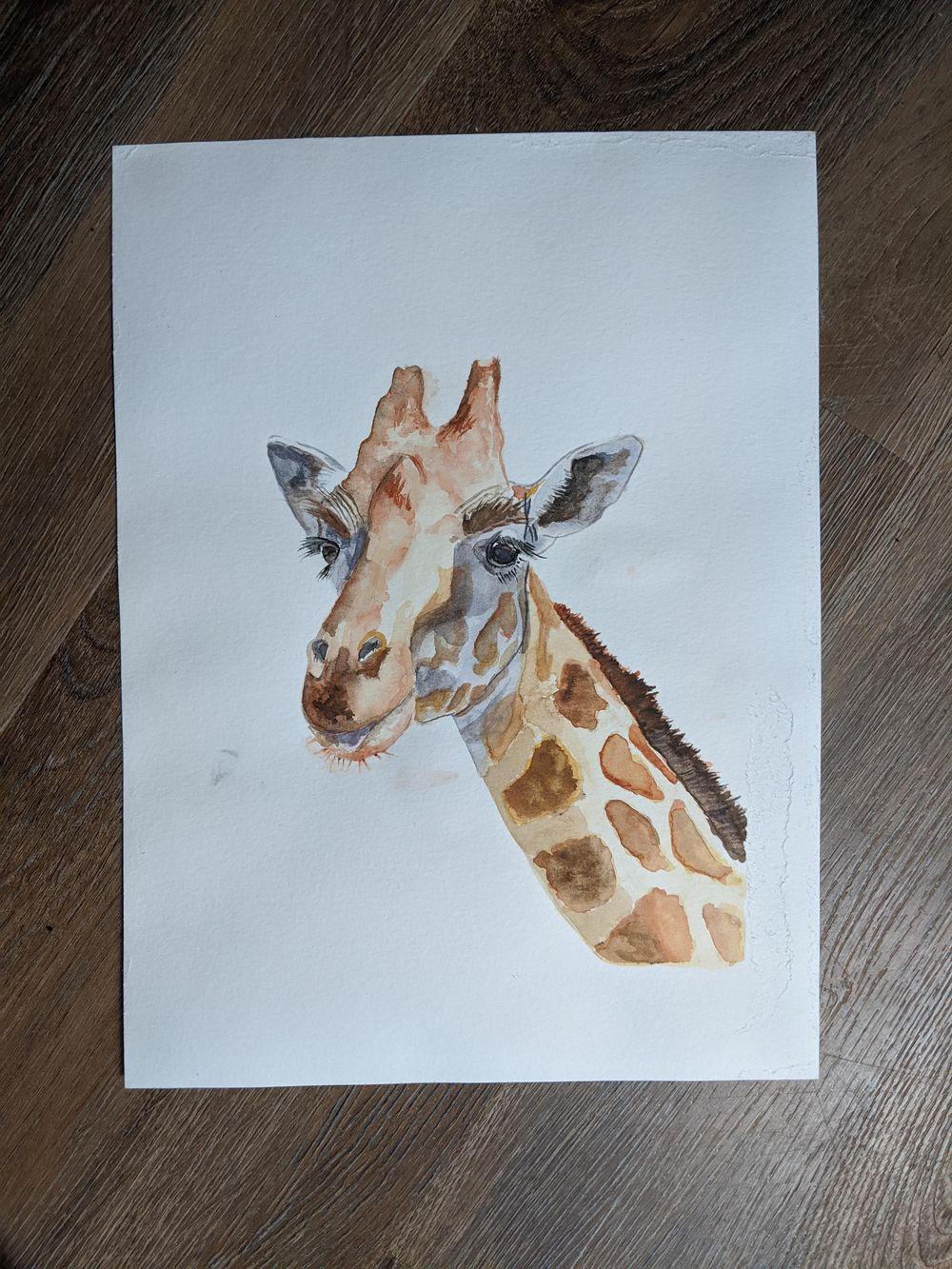 Giraffe Watercolor Tutorial - image 1 - student project