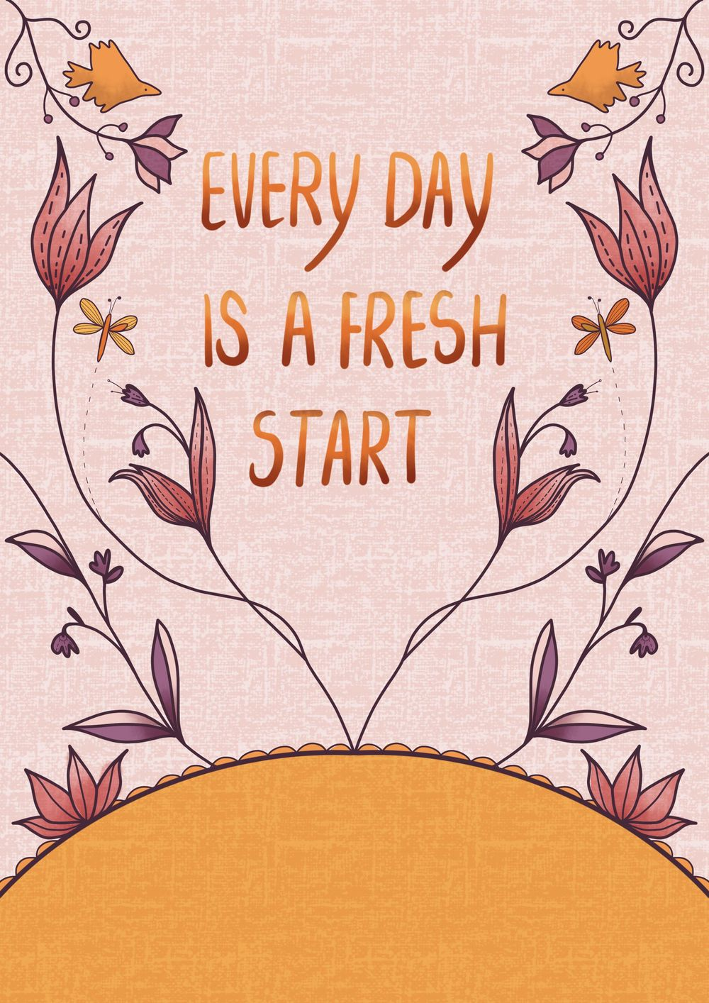 Every day is a fresh start - image 1 - student project