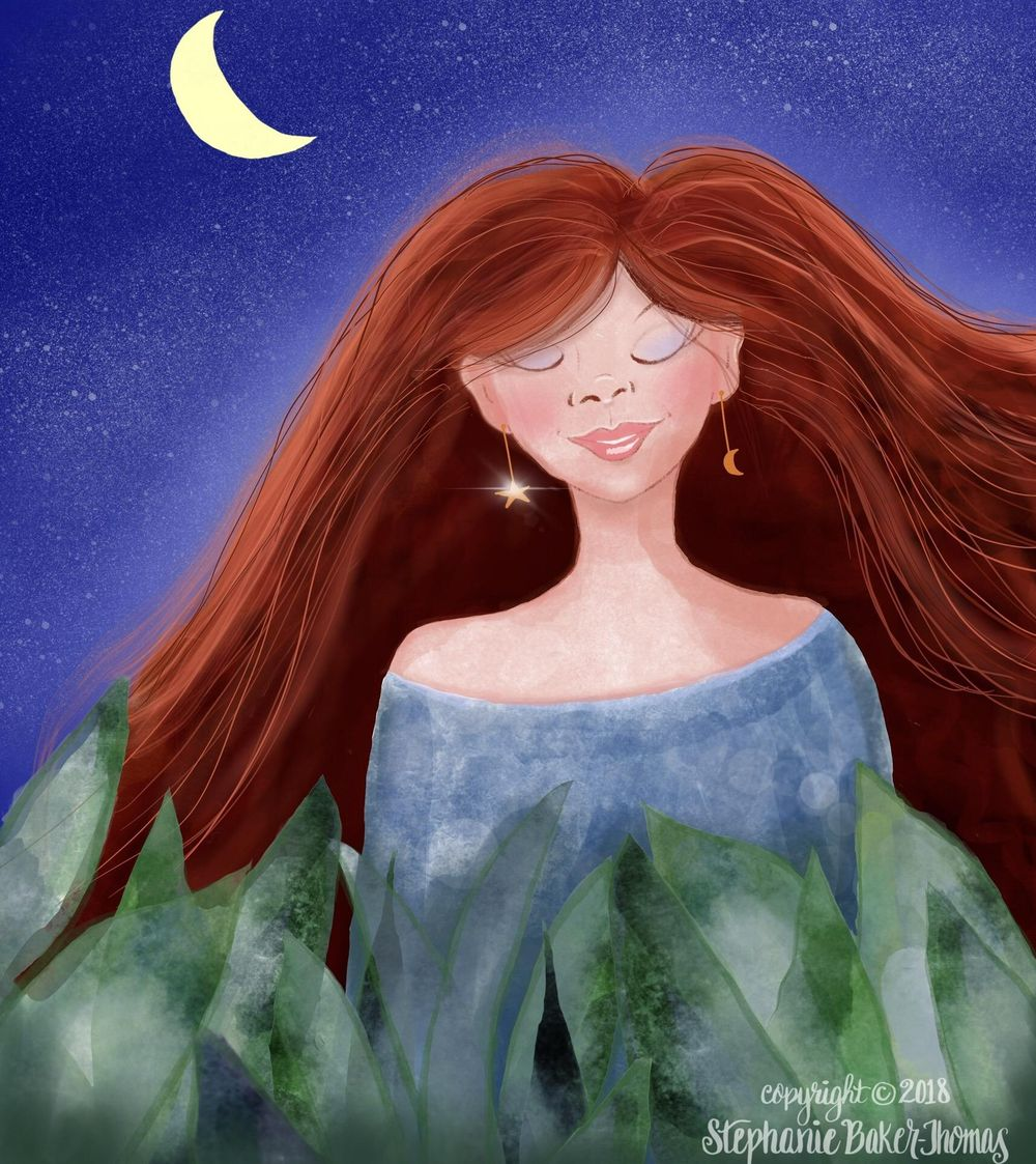 Redhead Dreaming in the Moonlight - image 1 - student project