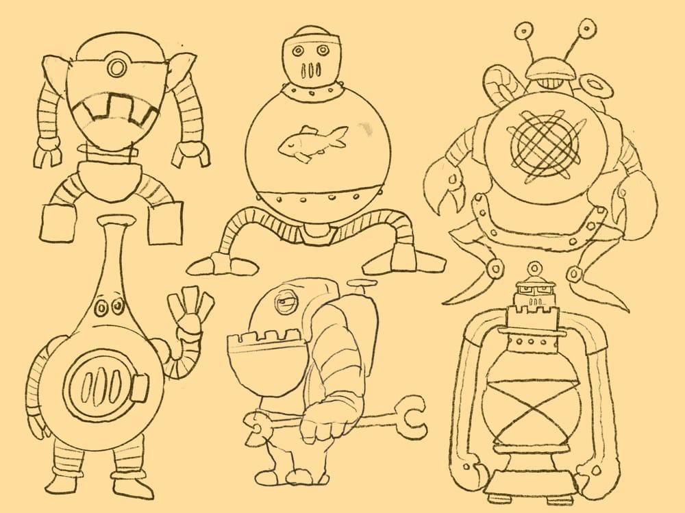 Steampunk Lantern Robot - image 1 - student project