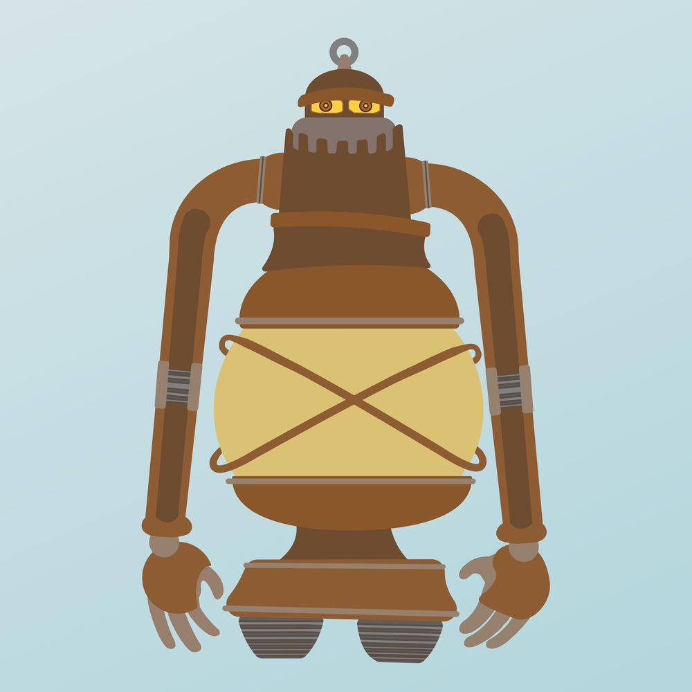 Steampunk Lantern Robot - image 4 - student project