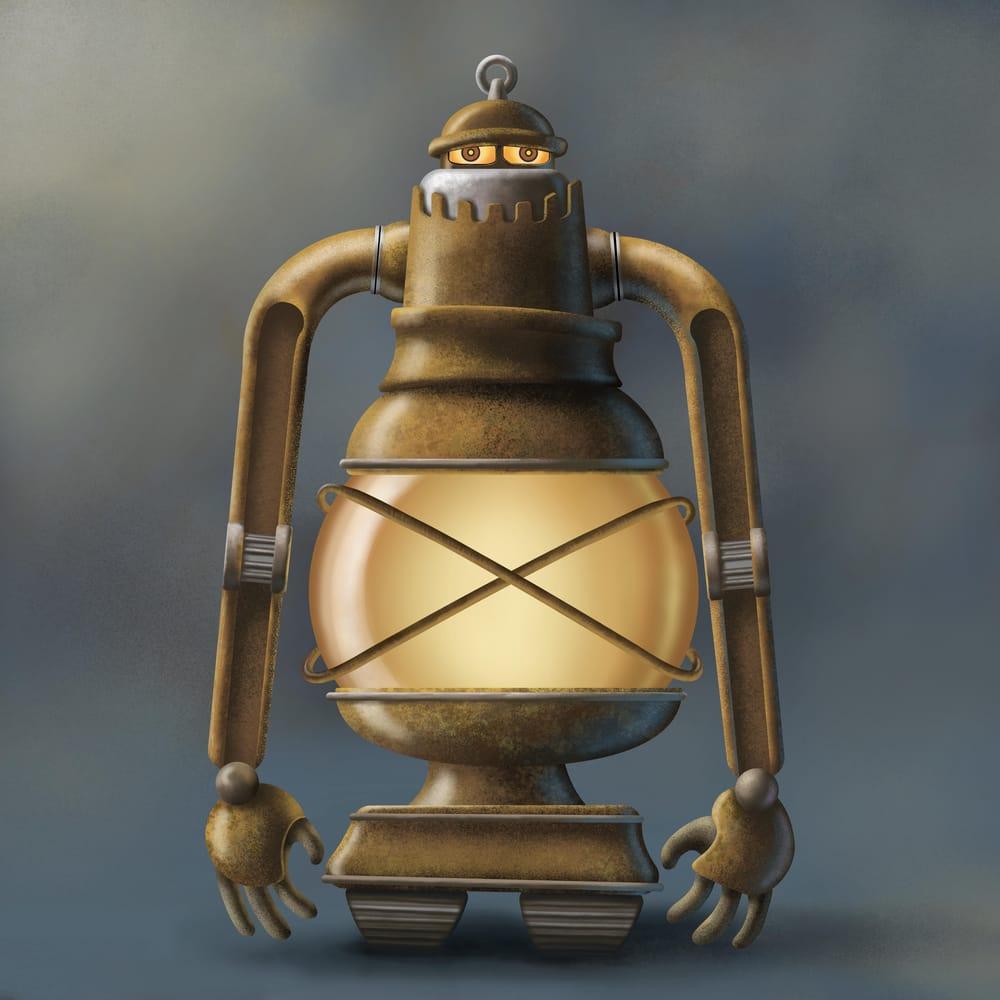 Steampunk Lantern Robot - image 5 - student project
