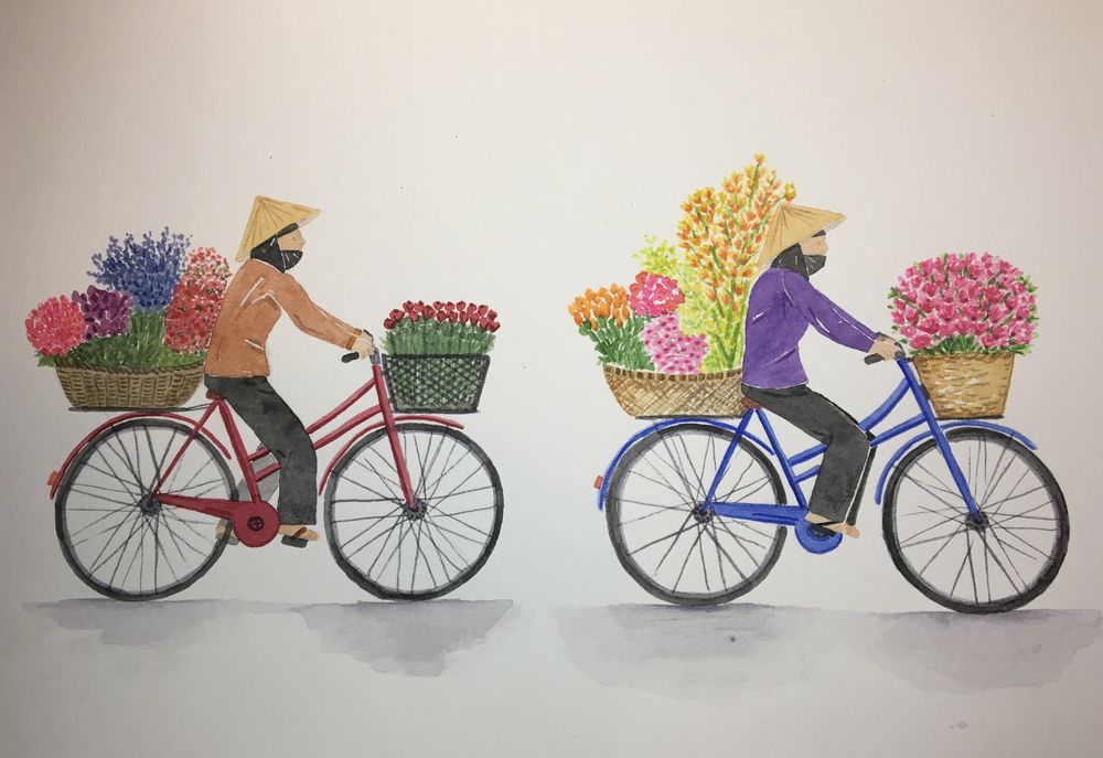Flower Delivery on Bicycle - image 1 - student project
