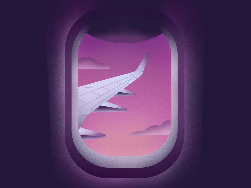 Plane window illustration - image 1 - student project
