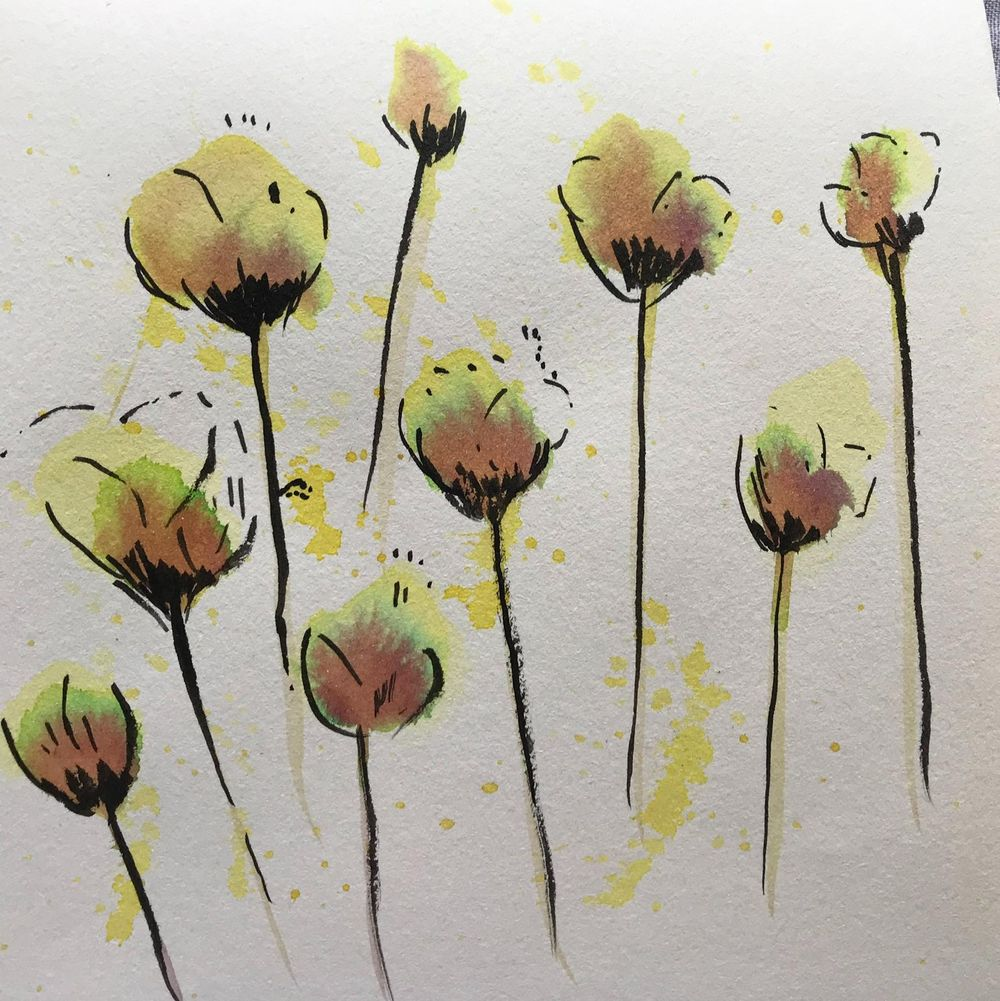Fun with ink and watercolour - image 3 - student project