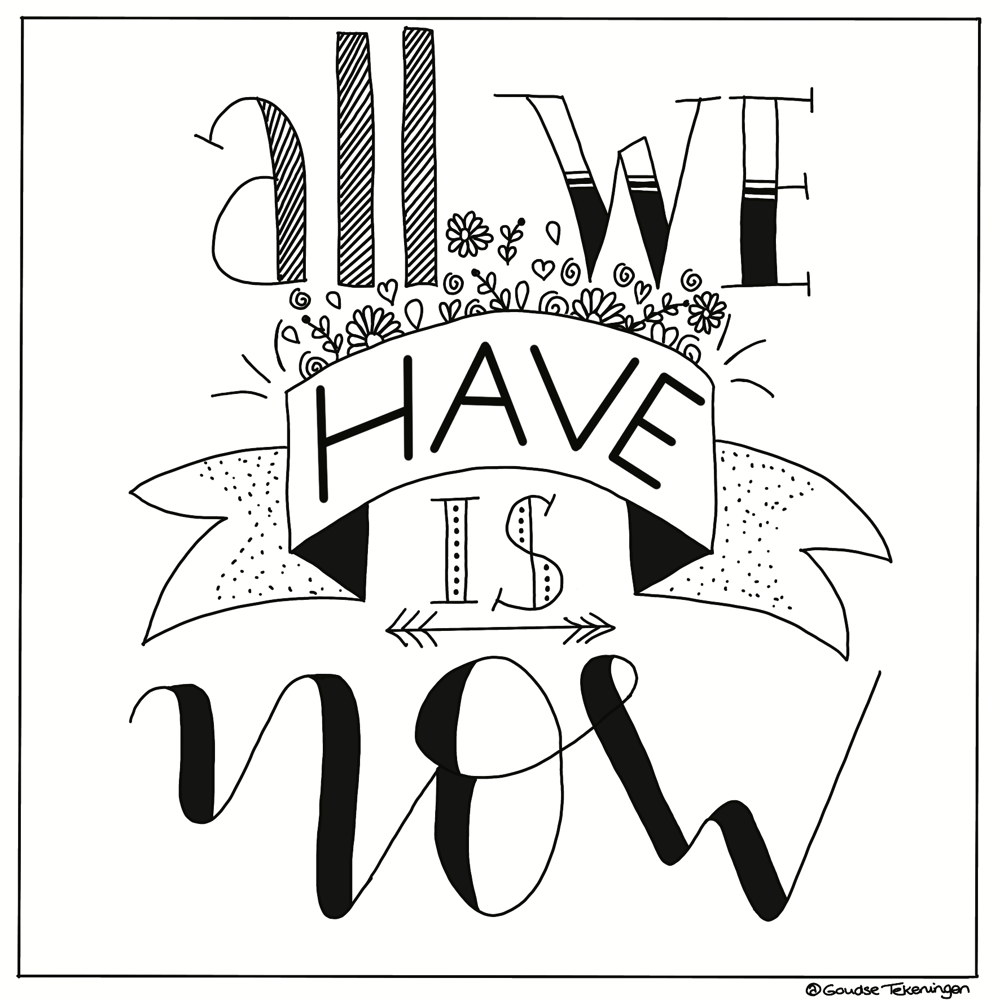 Handlettering a quote - image 1 - student project
