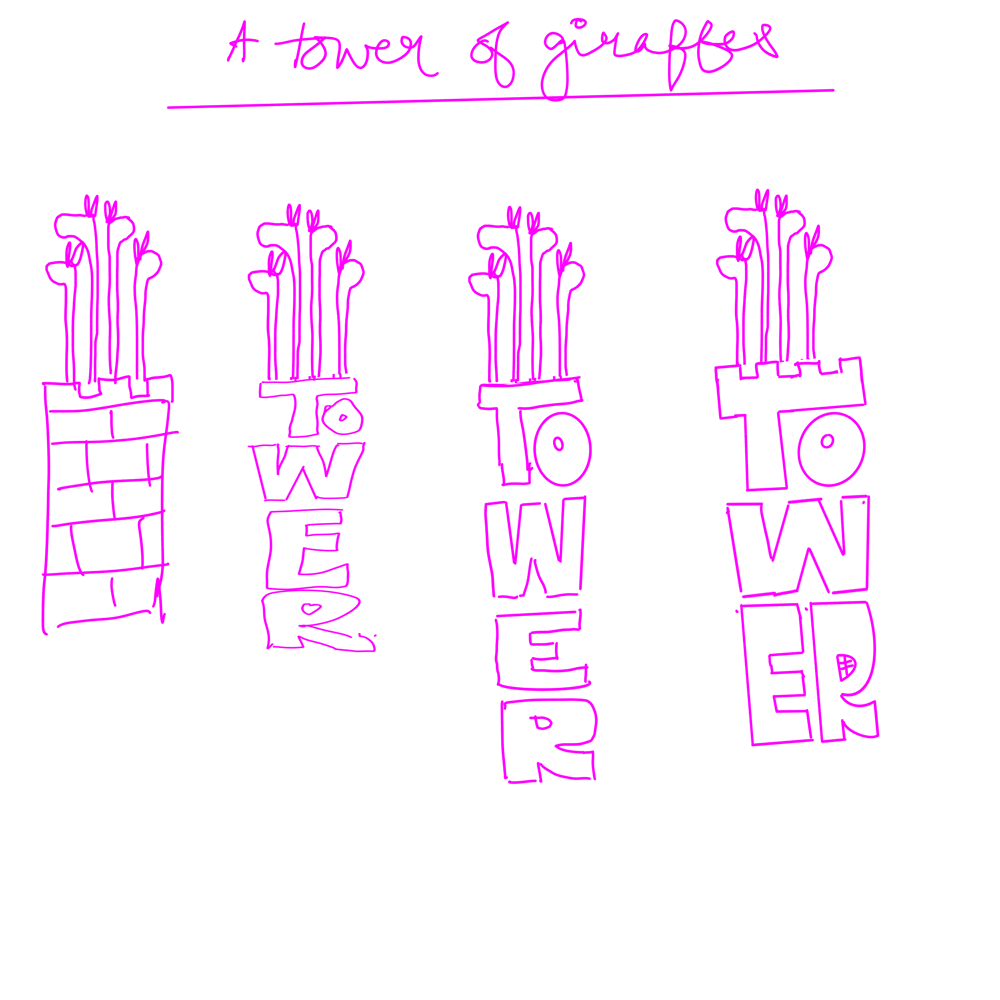 a tower of giraffes - image 1 - student project