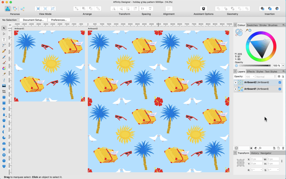 my holiday down under pattern - image 1 - student project
