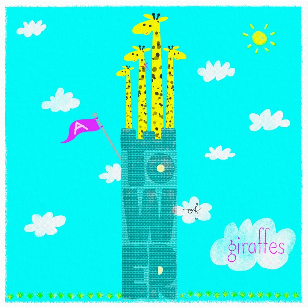 a tower of giraffes - image 3 - student project