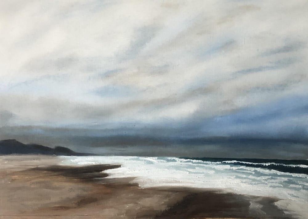 Dark ocean shore - image 1 - student project