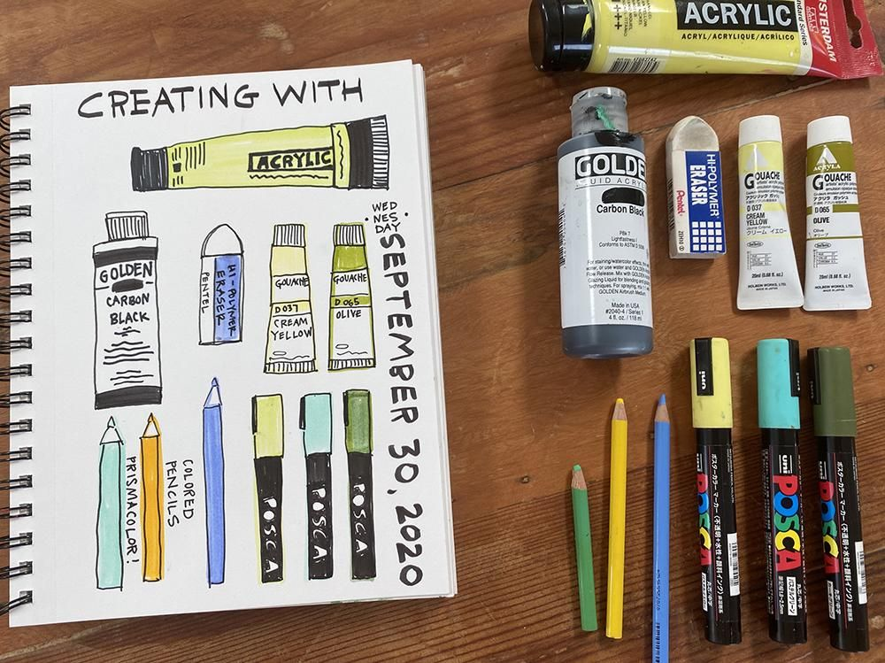 Illustrated Journaling: Day 1 - image 2 - student project