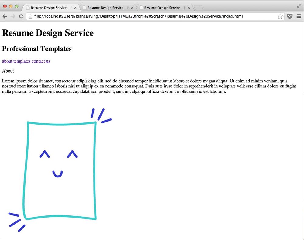 Resume Design Service - image 4 - student project