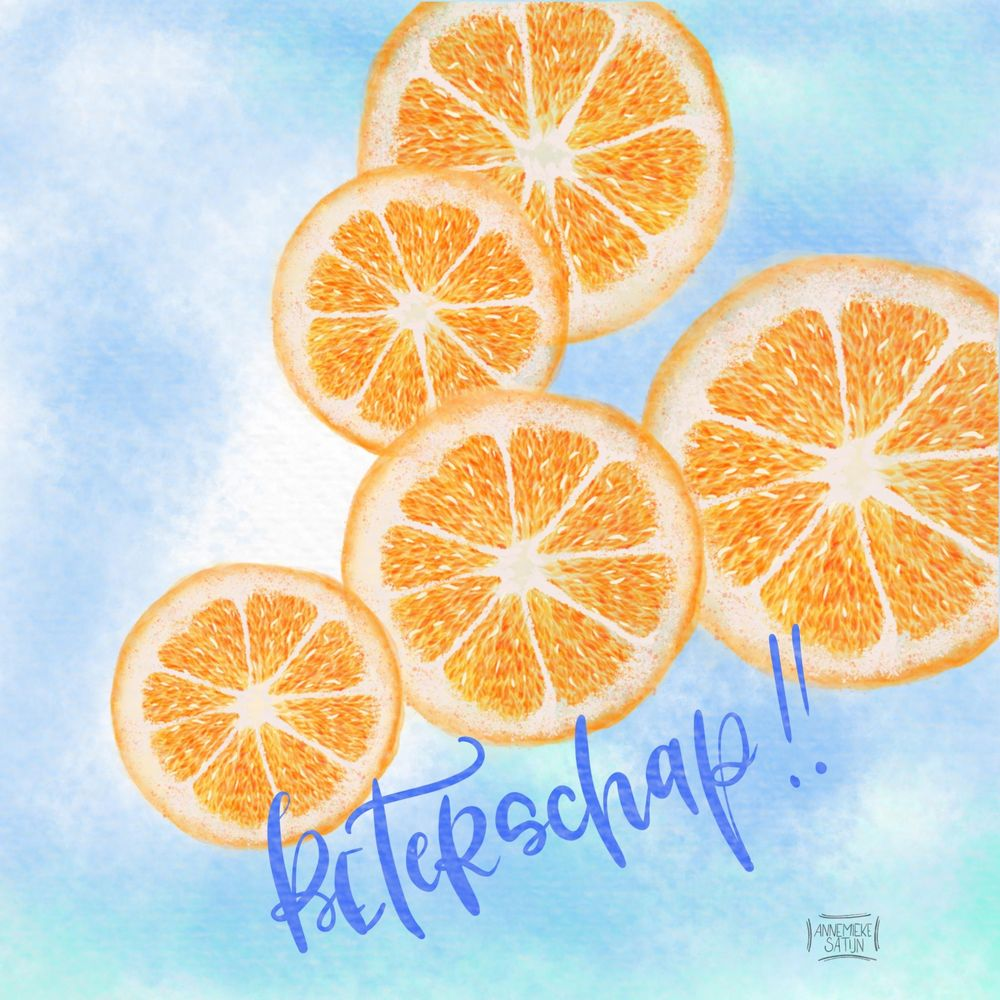Watercolor citrus slices - image 2 - student project