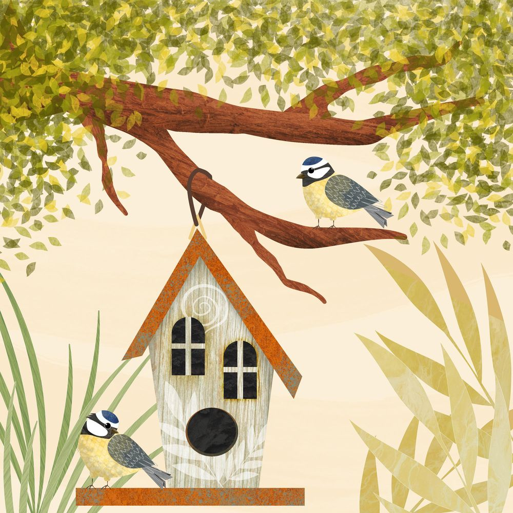 Create birds and bird houses in Affinity Designer for iPad - image 2 - student project