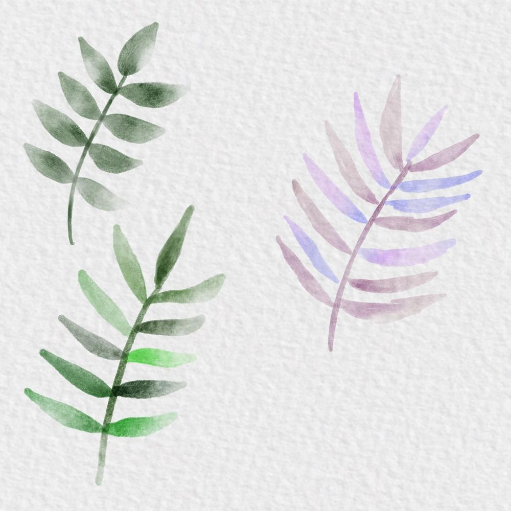 Watercolor leaves on the iPad - image 1 - student project