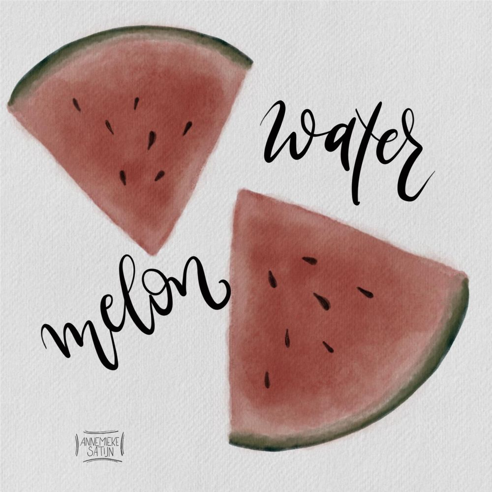 Watercolor watermelon - image 1 - student project