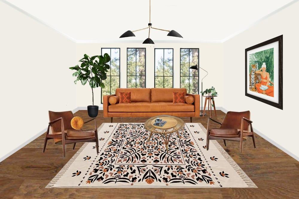 Mid Century Boho Living Room - image 1 - student project