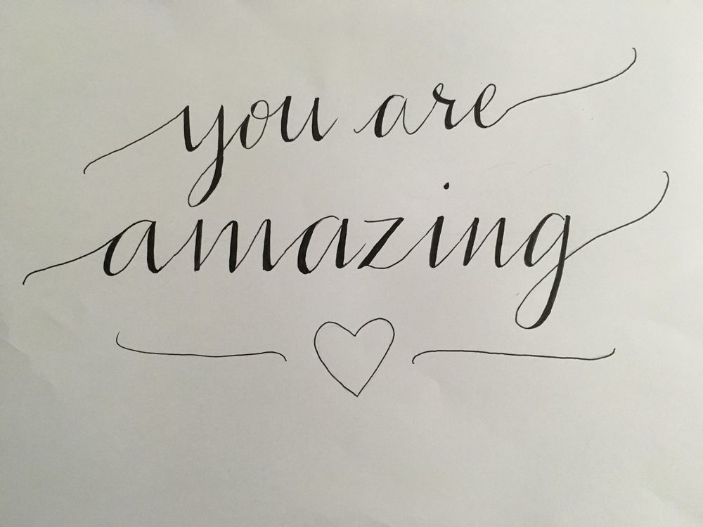 """""""You are amazing"""" - image 1 - student project"""