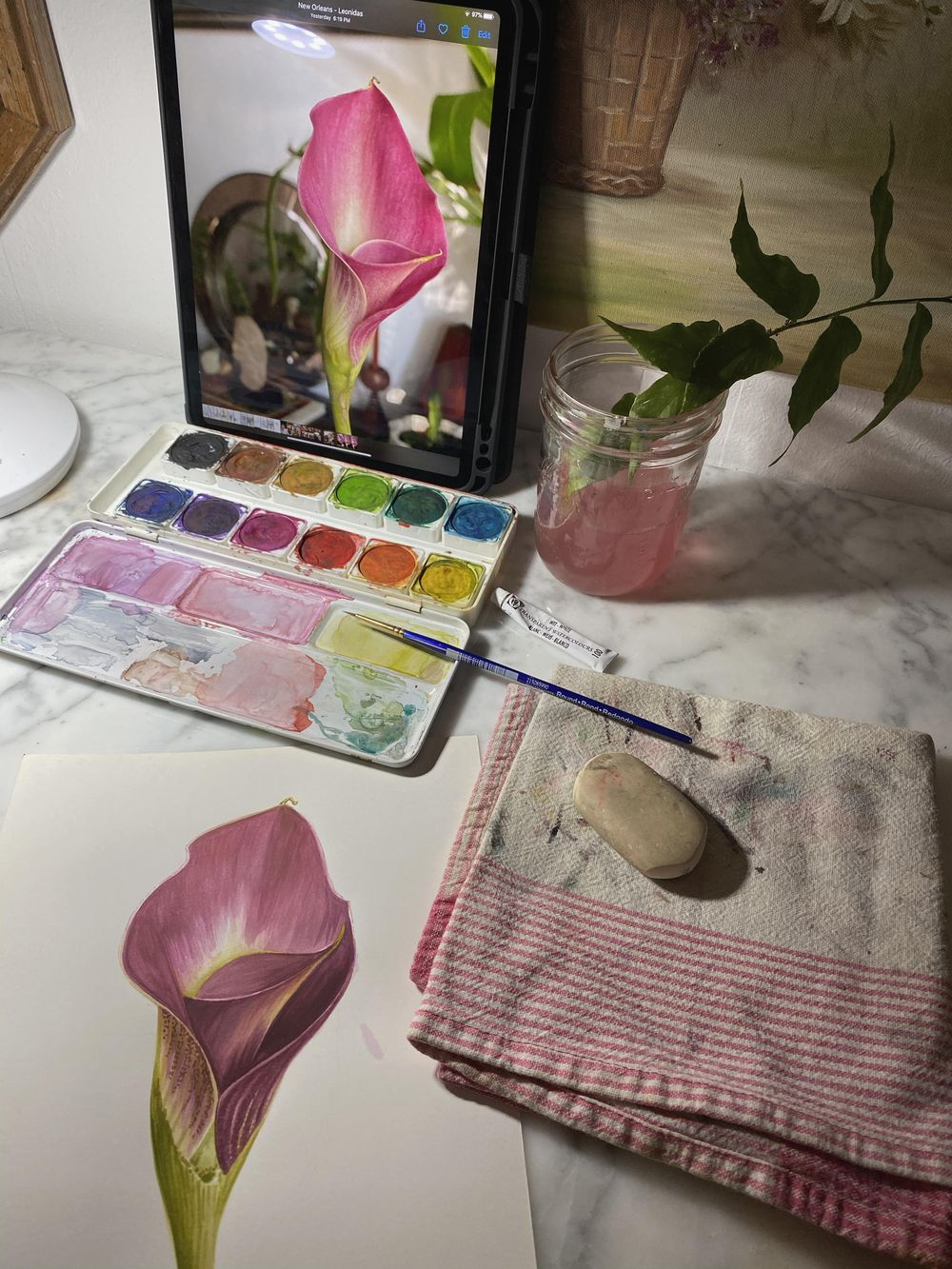 Watercolor Calla Lily - image 2 - student project