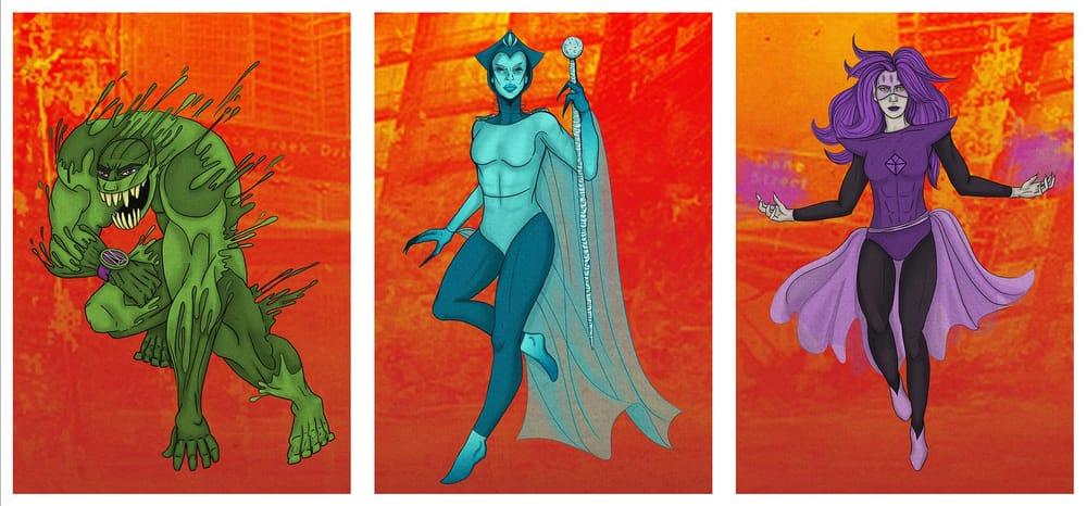 Seven Super Villains - image 6 - student project
