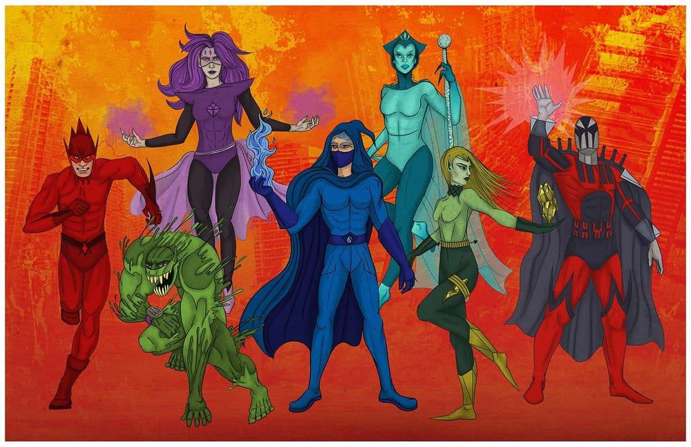 Seven Super Villains - image 7 - student project