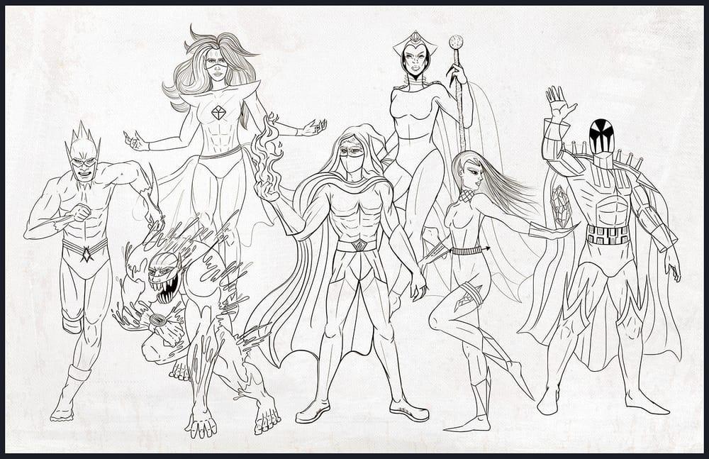 Seven Super Villains - image 4 - student project