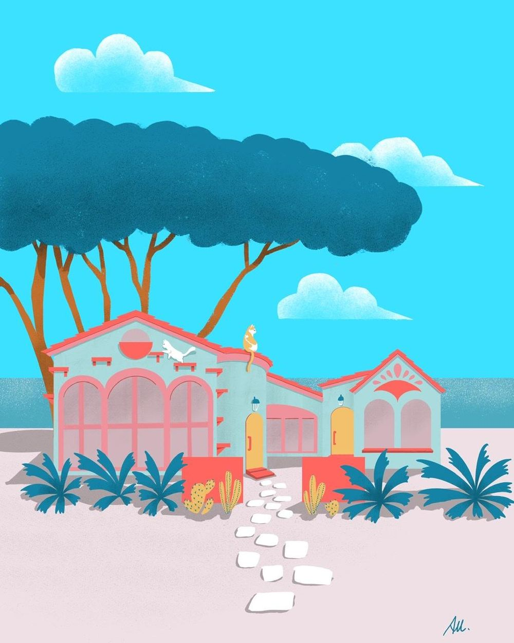 My ideal seaside house with cats - image 3 - student project