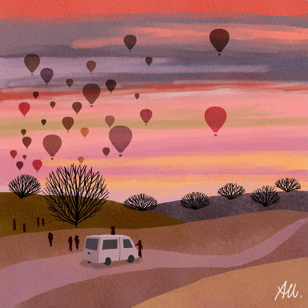 Hot air balloons in the morning sky - image 1 - student project