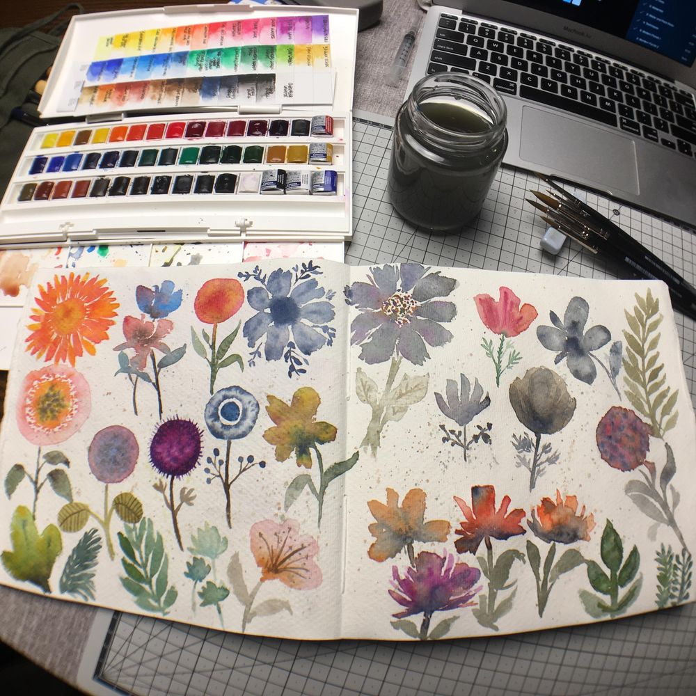 Modern Loose Florals - image 1 - student project