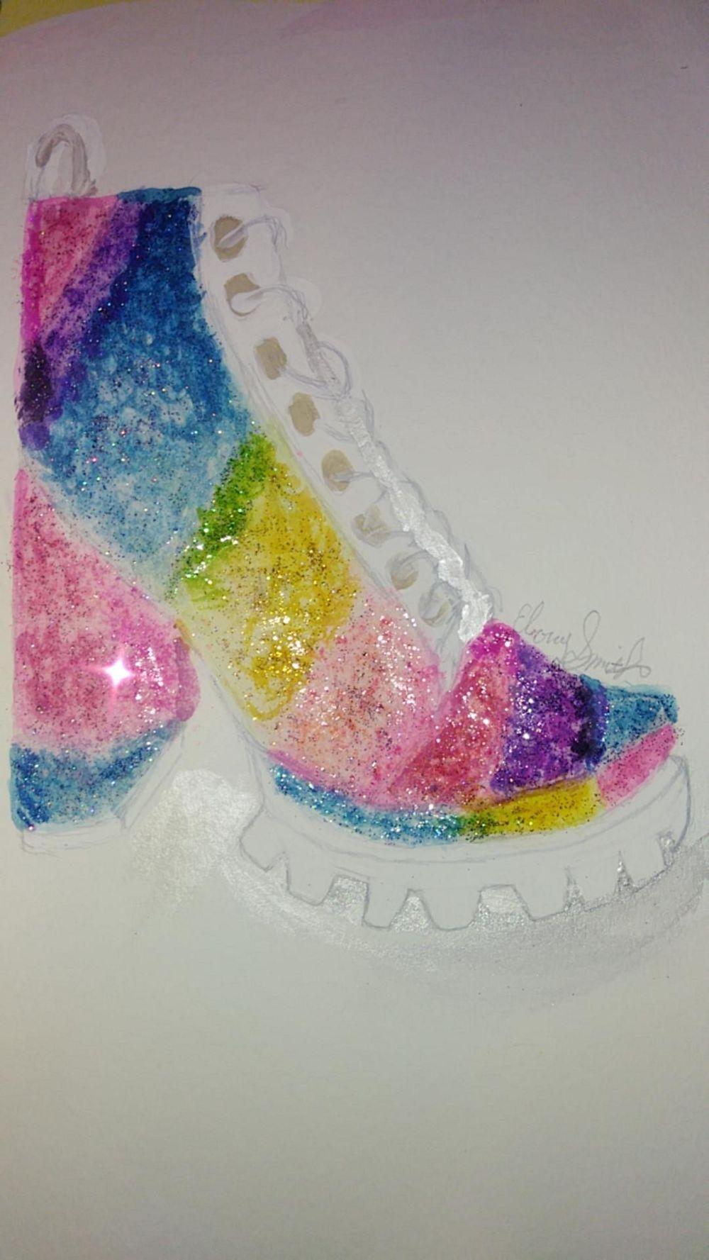 Ebony_Smith_Glitter_Boot - image 1 - student project