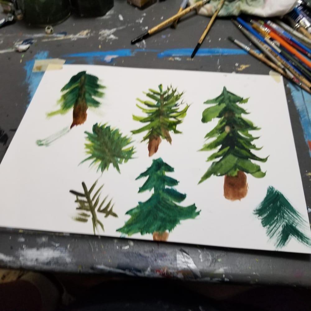 Pine tree practice - image 1 - student project