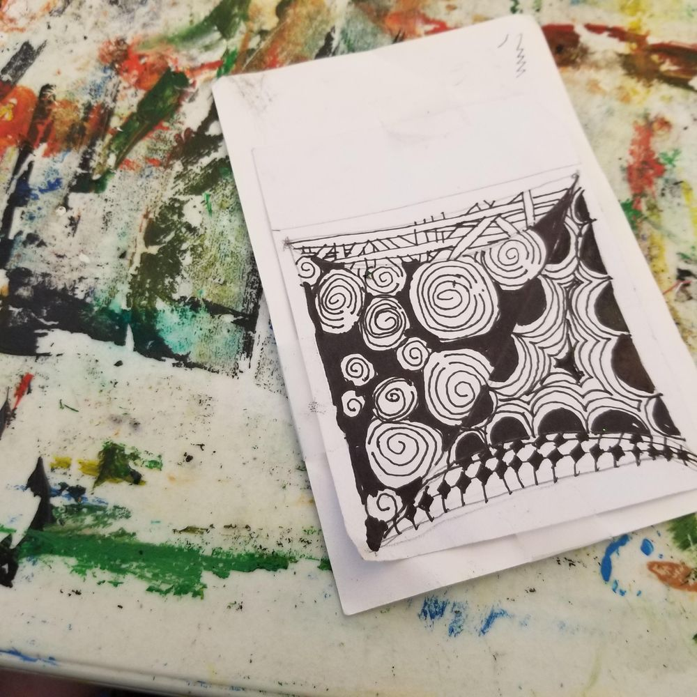 My zentangle tile. - image 1 - student project