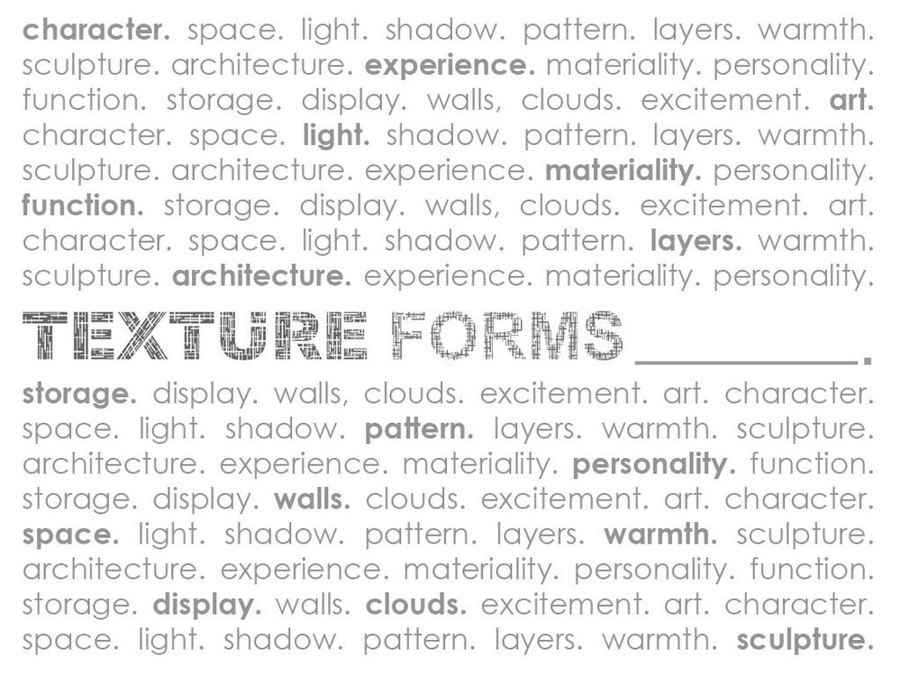 Texture Forms - image 1 - student project