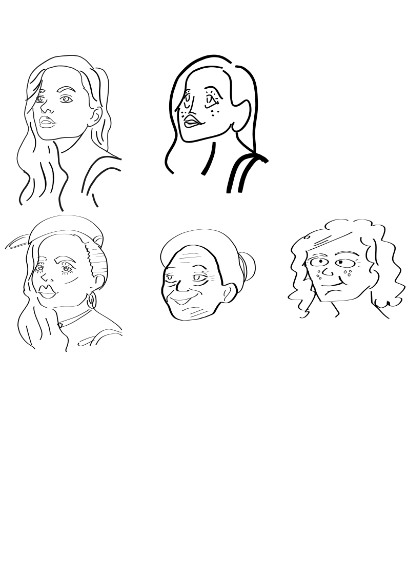 first illustrations of a girl, ex 1 - image 1 - student project