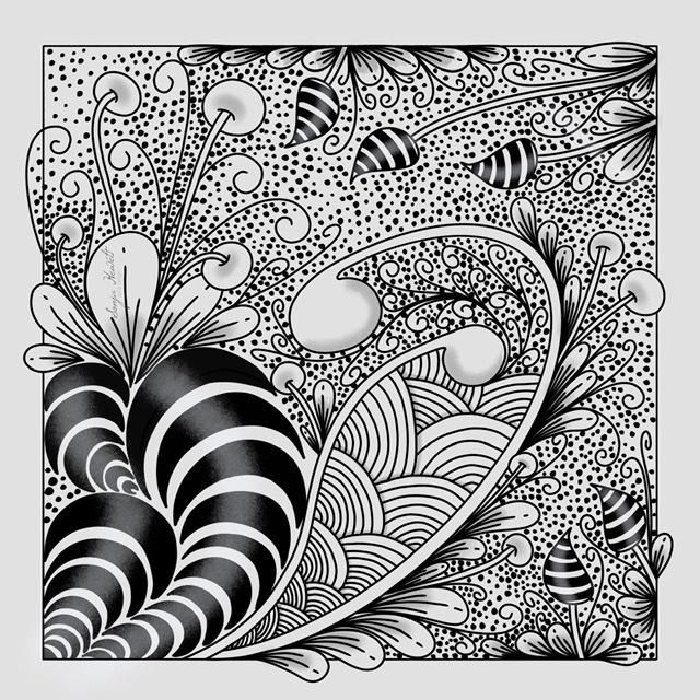 My first Zentangle - image 1 - student project