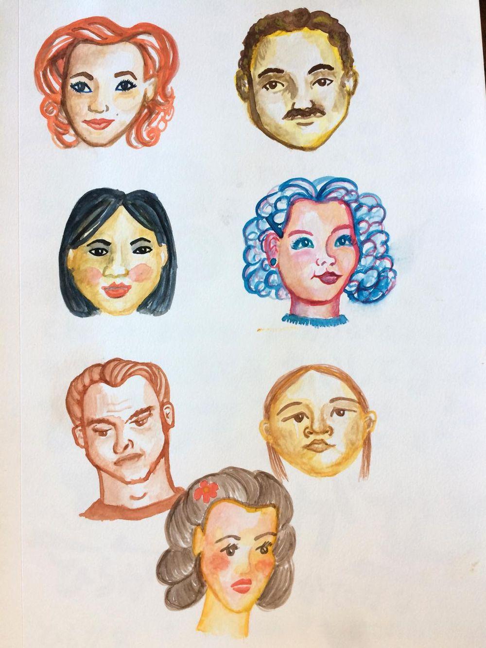 Lotsa little faces - image 1 - student project