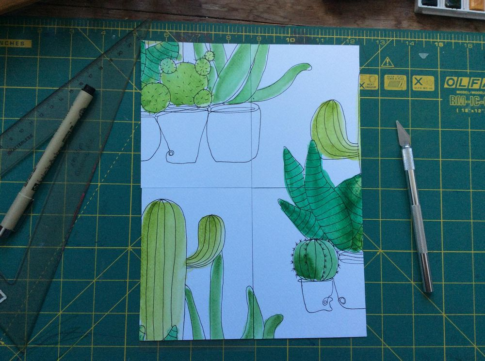 Cacti pattern - image 3 - student project