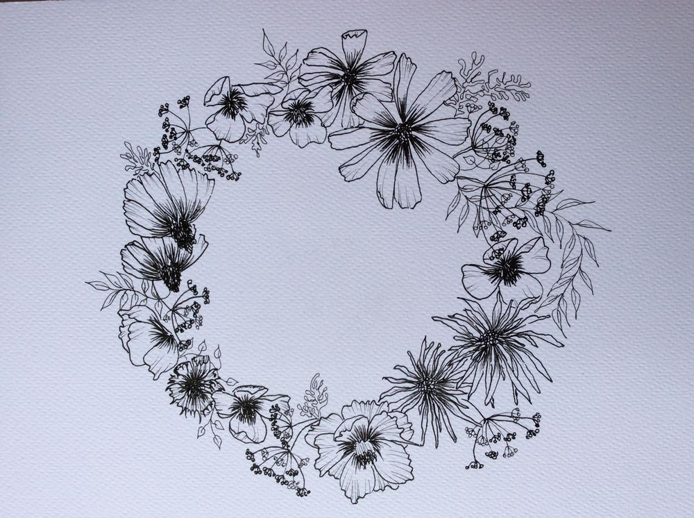 Ink wild flowers - image 2 - student project