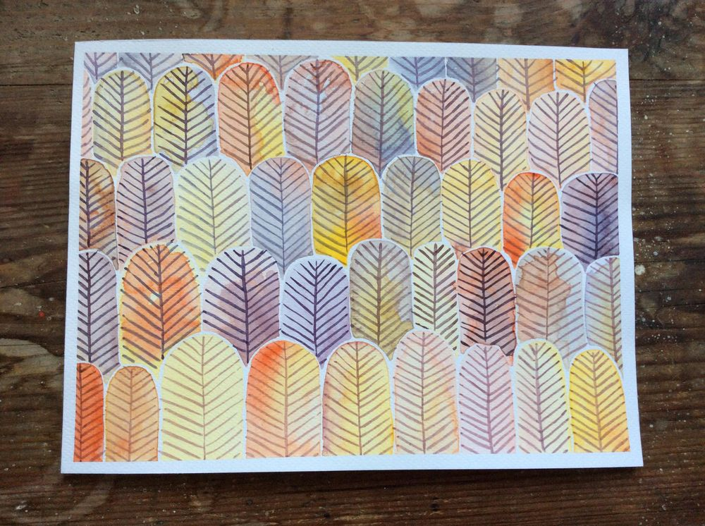 Autumn inspired feather forest - image 1 - student project