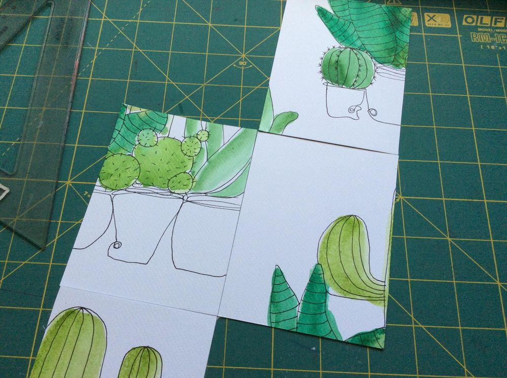Cacti pattern - image 2 - student project
